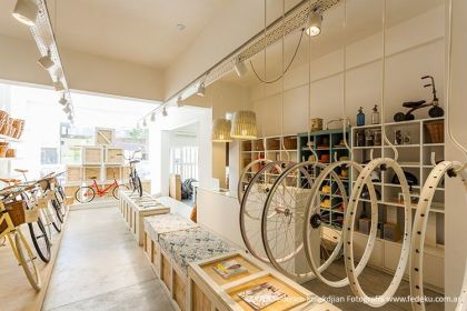 Bikes  of Monochrome #interiors #store