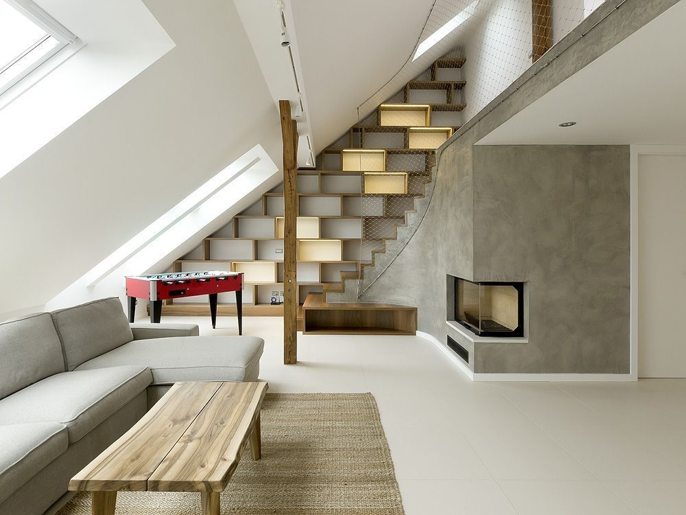 Rounded Loft in Prague A1 Architects