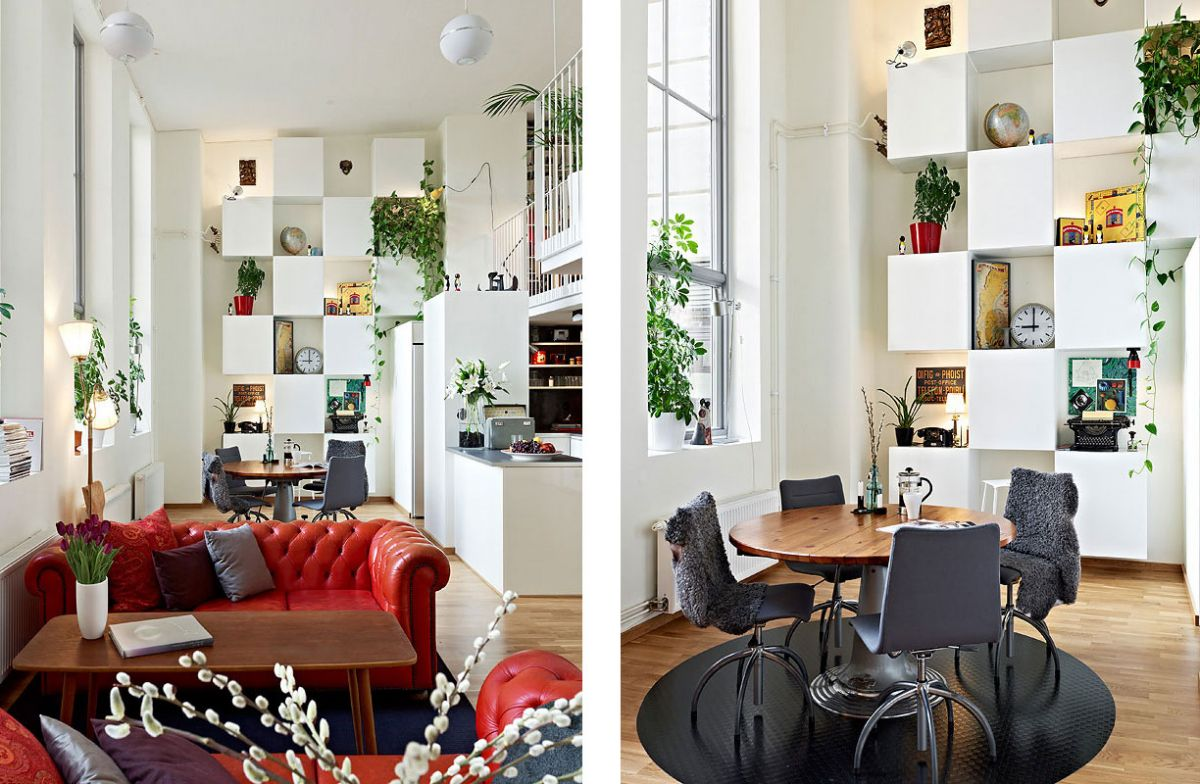 Scandinavian Design: Beautiful Apartment With Mezzanine In Gothenburg,  Sweden Nice Design