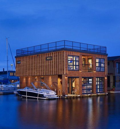Lake Union Float Home #architecture
