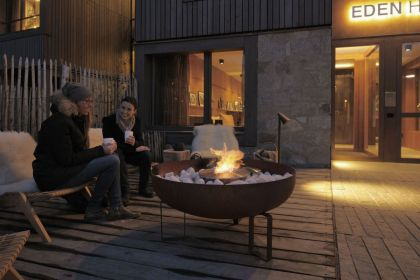 Eden Hotel #hotel #terrace #fireplace