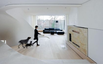 Haus am Weinberg #interiors #fireplace