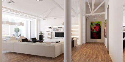 Loft Apartment in Chisinau Grosu Art Studio