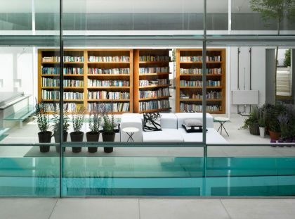 Gayton Road Residence #interiors #pool #livingroom #shelf