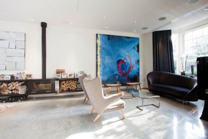 Queens Park Residence in London #interiors #fireplace