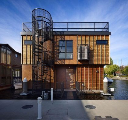 Lake Union Float Home #architecture #stairs