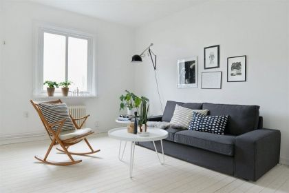 Scandinavian Design: White and Gray #sofa