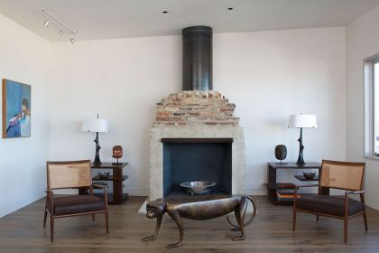 A Wurster Revival #interiors #fireplace