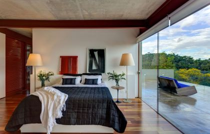 Nova Lima House #interiors #bedroom