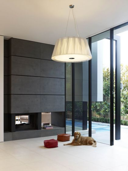 Good Residence in Melbourne #interiors #fireplace