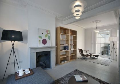 De Beauvoir Road #interiors #fireplace #shelf