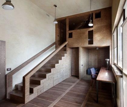 Multi-Level Apartment #interiors #stairs