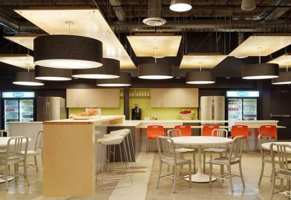 Skype's North American Headquarters in Palo Alto #interiors #office #kitchen