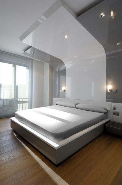 Serrano Apartments: Amazing Urban Remodeling in Madrid #interiors #bedroom
