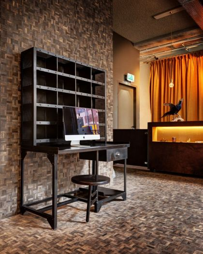 The Hotel #interiors #shelf #desk