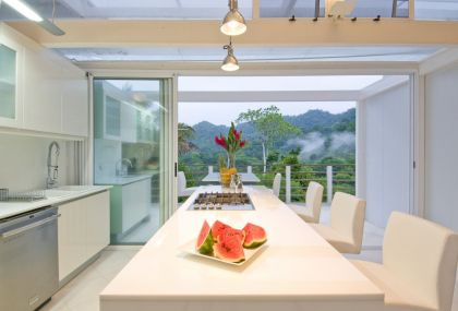 Beautiful Secluded Home in Costa Rica #interiors #kitchen #diningroom