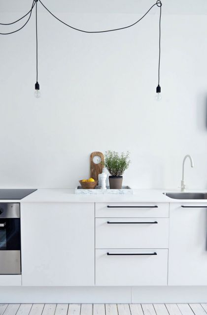 Scandinavian Design: White and Gray #interiors #kitchen
