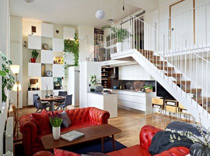 Scandinavian Design: Beautiful Apartment with Mezzanine in Gothenburg, Sweden