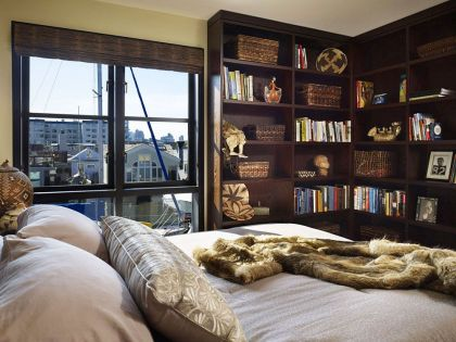 Lake Union Float Home #interiors #bedroom #shelf