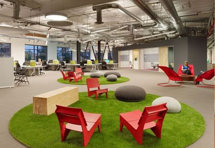 Skype's North American Headquarters in Palo Alto #interiors #modern #office