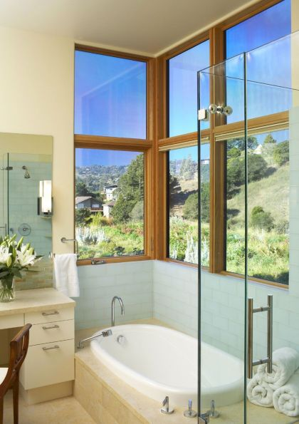 Mill Valley Hillside #interiors #bathroom