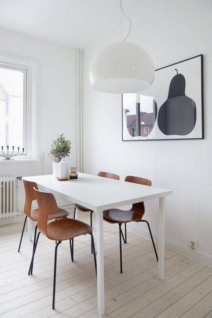 Scandinavian Design: White and Gray #interiors #diningroom