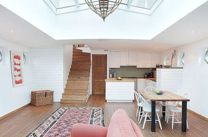 Stunning Barge Conversion #interiors #stairs #kitchen