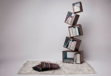 Equilibrium Bookcase Malagana Design Defies Gravity