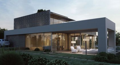 Eco-Golf House 3D Rendering Studio Aiko