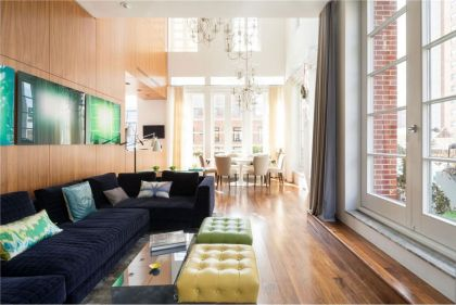A Penthouse with a Backyard in Tribeca