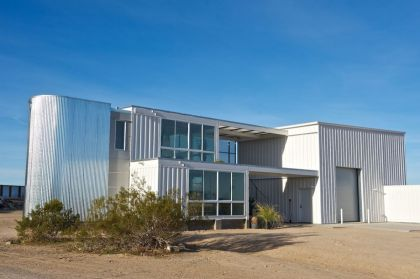 First Shipping Container House in Mojave Desert Ecotech Design