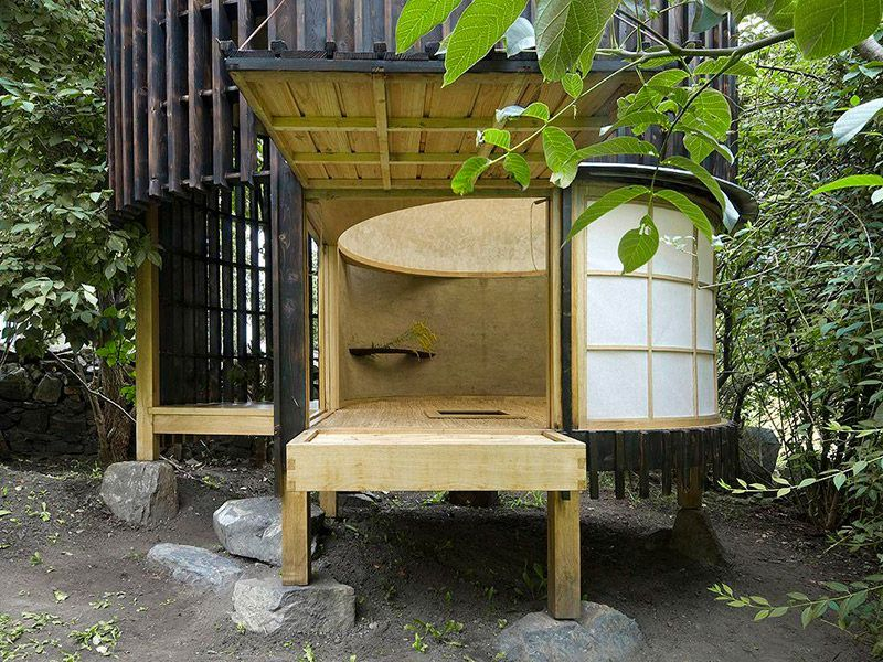 Teahouse in the garden A1 Architects