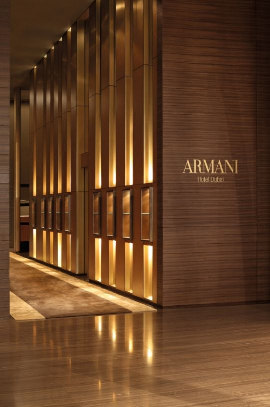 Interiors of The Armani Hotel Dubai Armani Hotel
