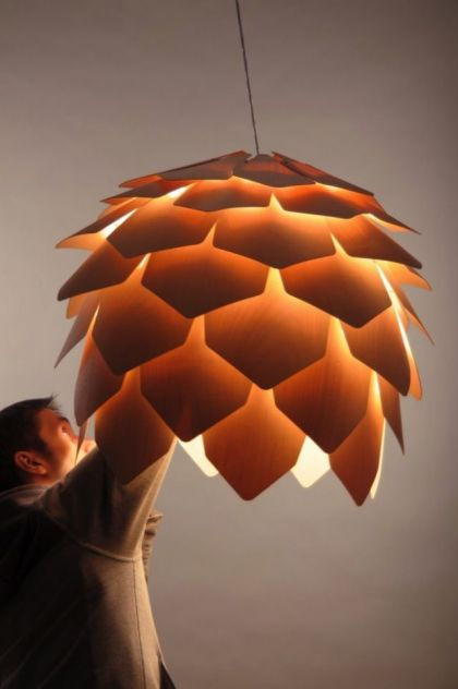 Crimean Pinecone Lamp #product #furniture #light