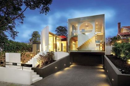 The Orb House in Melbourne #architecture #modern #garage #entrance
