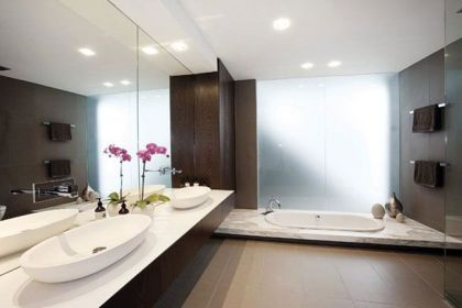 The Orb House in Melbourne #interiors #modern #bathroom