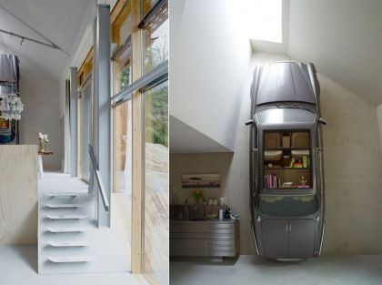 Dutch Mountain #interiors #stairs #garage