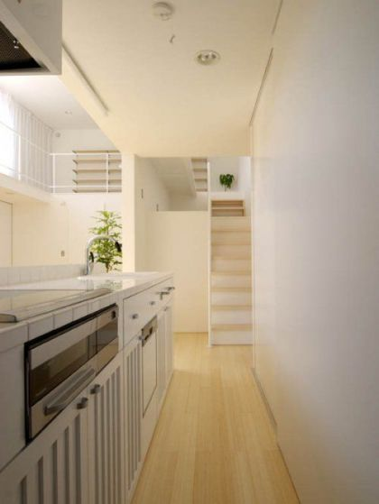 """The Japanese """"With"""" from LOOP Studio #interiors #stairs #kitchen"""