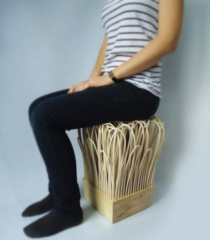 Lightweight Rattan Stool