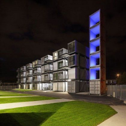 Student Dormitory built using shipping containers Cittani Architects