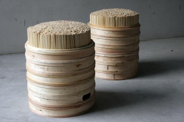 Chopstick Stool Ryan Horsman and Jason Dembski