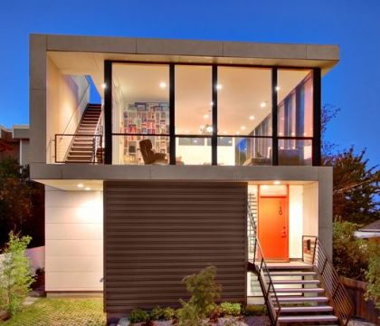 Modern House Design On Small Site Witin A Tight Budget #architecture #modern #stairs #entrance