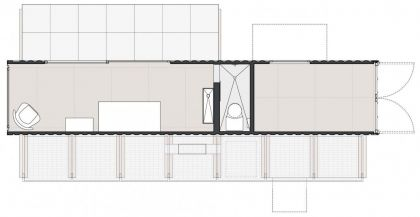 Container Guest House #ground-plan #container
