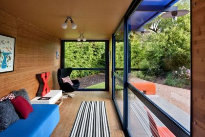 Container Guest House #interiors #livingroom