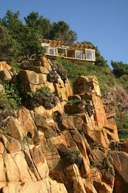 House On A Cliff By Ramirez Moletto #architecture