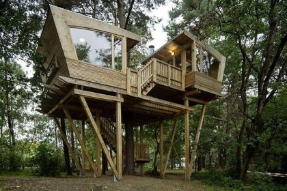 Scout treehouse #architecture #treehouse
