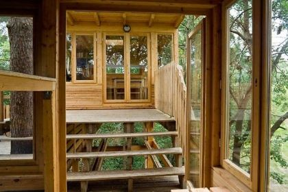 Scout treehouse #architecture #treehouse #stairs