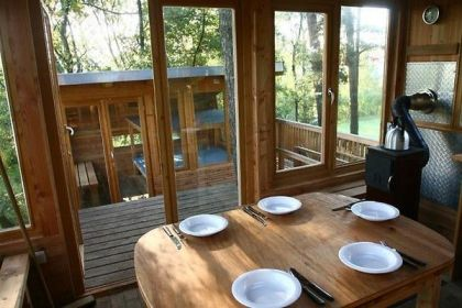 Scout treehouse #interiors #treehouse #diningroom