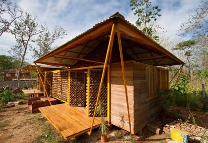 A forest for a Moon dazzler Bamboo House #architecture #minihouse
