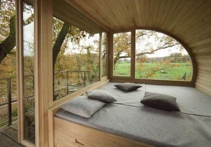 Mini Treehouse design #interiors #treehouse #bedroom #bed